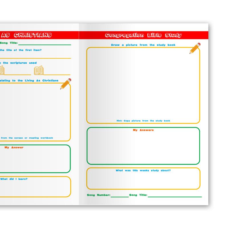 Notebook for Children - Mid-Week Meeting Workbook